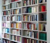 Bücherregale, Birke Multiplex weiß beschichtet