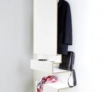 Garderobe Birke Multiplex weiß